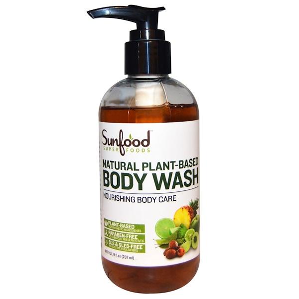 Sunfood, Natural Plant-Based Body Wash, 8 fl oz (237 ml)
