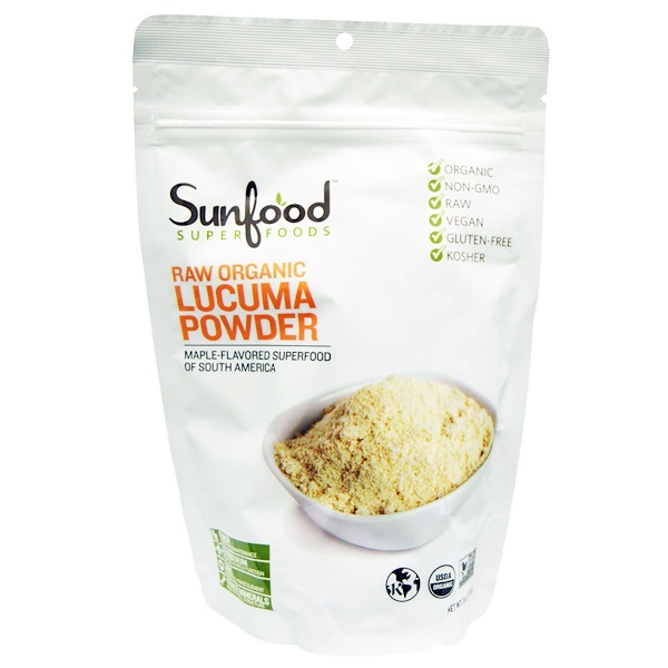 Sunfood, Raw Organic Lucuma Powder, 8 oz (227 g) (Discontinued Item)