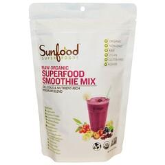 Sunfood, 未加工オーガニックスーパーフードスムージーミックス, 227 g