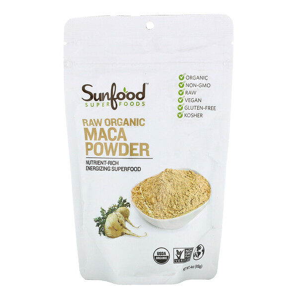 Sunfood, Superfoods, Raw Organic Maca Powder, 4 oz (113 g)