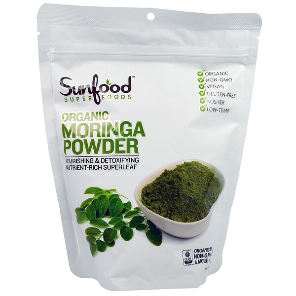 Organic Moringa Powder, 8 oz (227 g)