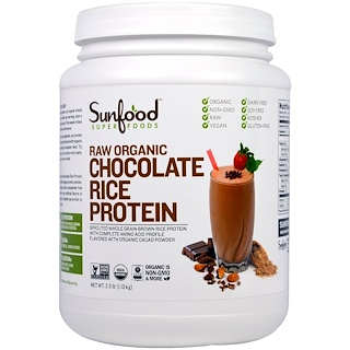 Sunfood, Raw Organic Chocolate Rice Protein, 2.5 lb (1.13 kg)