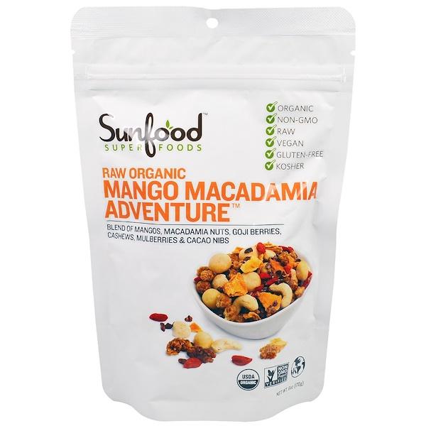 Sunfood, Raw Organic Mango Macadamia Adventure, 6 oz (170 g) (Discontinued Item)