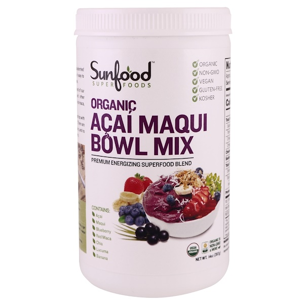 Sunfood, عضوي، خليط سلطانية أكاي ماكي، 14 أوقية (397 جم)