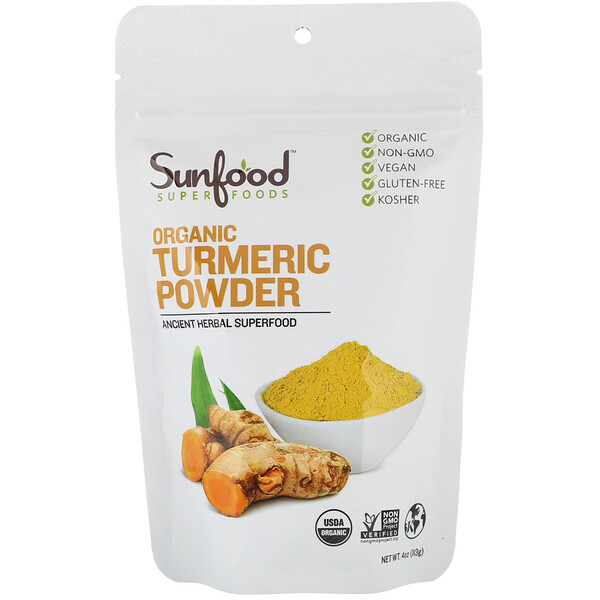 Sunfood, Organic Turmeric Powder, 4 oz (113 g)