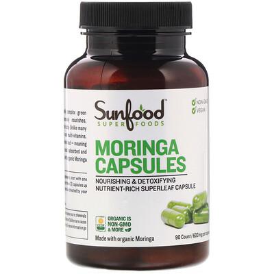 Купить Sunfood Moringa Capsules, 600 mg, 90 Capsules