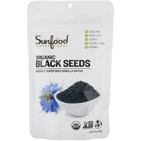 Organic Black Seeds, 4 oz (113 g)