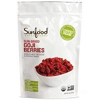 Sunfood, Высушенные на солнце ягоды годжи, 8 унций (227 г)
