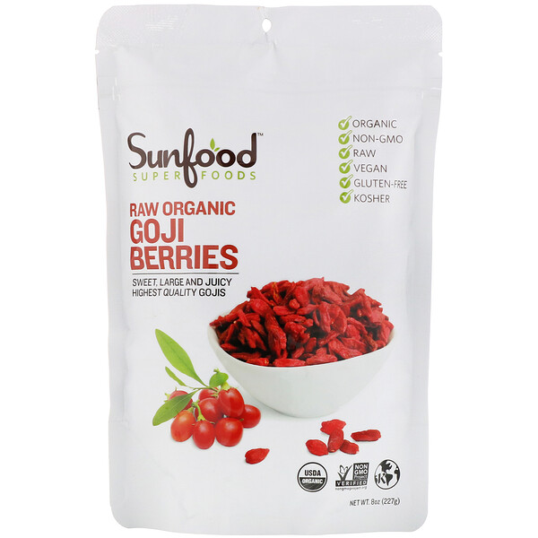 Sun-Dried Goji Berries, 8 oz (227 g)