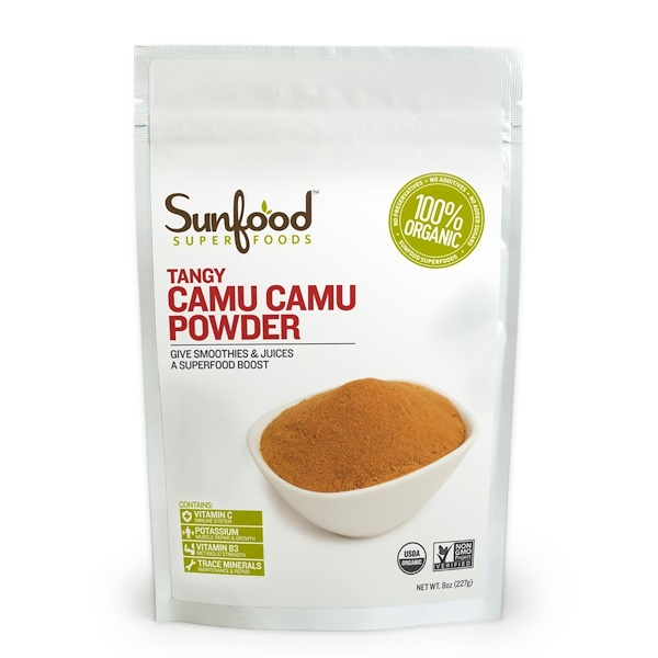 Sunfood, Organic, Tangy Camu Camu Powder, 8 oz (227 g) (Discontinued Item)