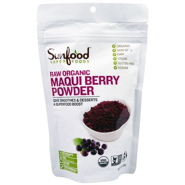 Sunfood, Superfoods, Raw Organic Maqui Berry Powder, 4 oz (113 g)