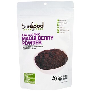 Sunfood, Raw Organic Maqui Berry Powder, 8 oz (227 g)