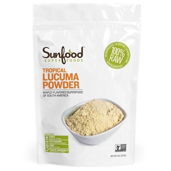 Sunfood, Tropical Lucuma Powder, 8 oz (227 g) (Discontinued Item)