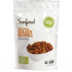 Sunfood, Incan Golden Berries, 8 oz (227 g)