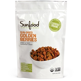 Sunfood, Incan Golden Berries, 8 oz (227 g)