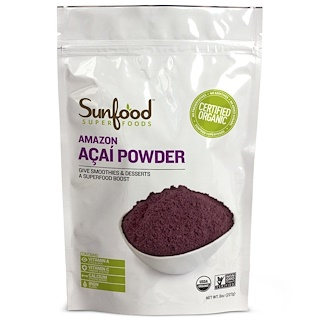 Sunfood, Amazon Acai Powder, 8 oz (227 g)