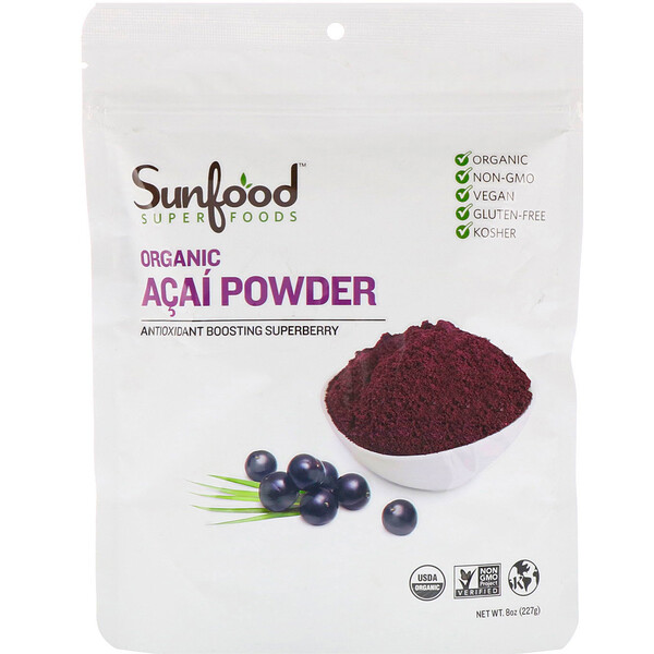 Organic Acai Powder, 8 oz (227 g)