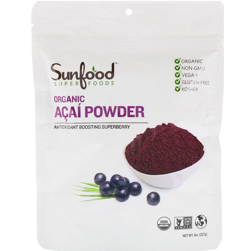 Sunfood, Organic Acai Powder, 8 oz (227 g)