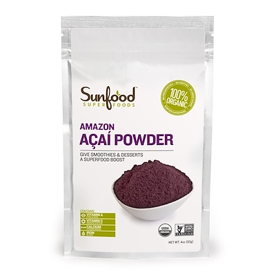 Sunfood Amazon Acai Powder, 4 oz (113 g)