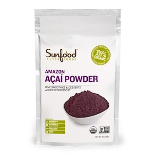 Sunfood, Amazon Acai Powder, 4 oz (113 g)