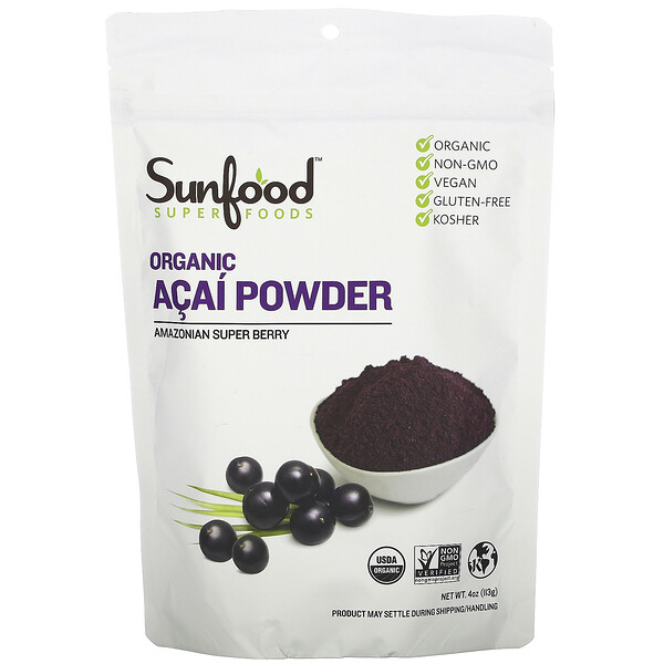 Organic Acai Powder, 4 oz (113 g)
