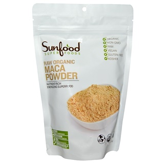 Sunfood, Raw Organic Maca Powder, 8 oz (227 g)