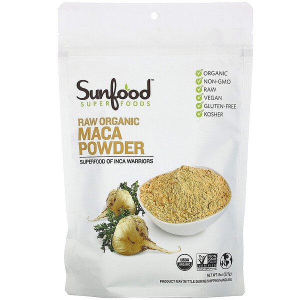 Superfoods, Raw Organic Maca Powder, 8 oz (227 g)