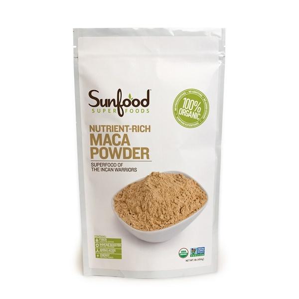 Sunfood, Maca Powder, Raw, 1 lb (454 g) (Discontinued Item)