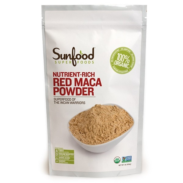 Sunfood, Raw Red Maca Powder, 8 oz (227 g)
