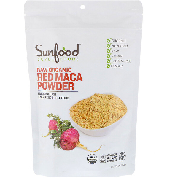 Raw Organic Red Maca Powder, 8 oz (227 g)