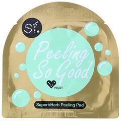 SFGlow, Peeling So Good 系列超級草本去角質保濕棉片,1 片裝,7 毫升(0.24 盎司)