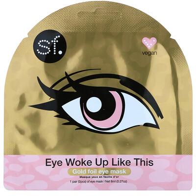 Купить SFGlow Eye Woke Up Like This, Gold Foil Eye Mask, 1 Mask, 0.27 oz (8 ml)