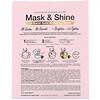 SFGlow, Mask & Shine, 24 Karat Gold Modeling Beauty Mask, 4 Piece Kit