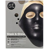 SFGlow, Mask & Shine, Black Diamond Charcoal Modeling Beauty Mask, 4 Piece Kit