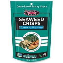 Seapoint Farms, 海藻片,杏仁芝麻,1.2盎司(35克)