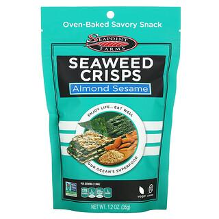 Seapoint Farms, Seaweed Crisps, Almond Sesame, 1.2 oz (35 g)