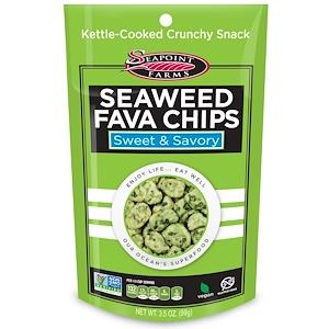 Сипоинт Фармс, Seaweed Fava Chips, Sweet & Savory, 3.5 oz (99 g) отзывы