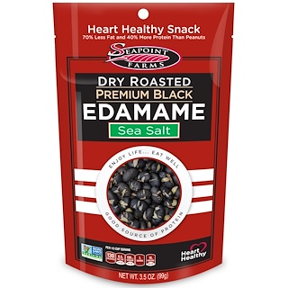Seapoint Farms, Dry Roasted Premium Black Edamame, Sea Salt, 3.5 oz (99 g)