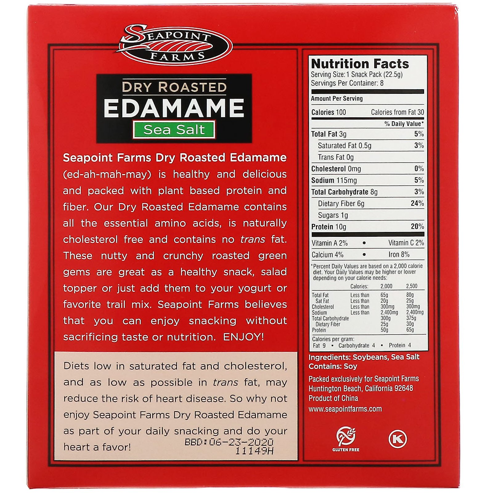 Seapoint Farms, Dry Roasted Edamame