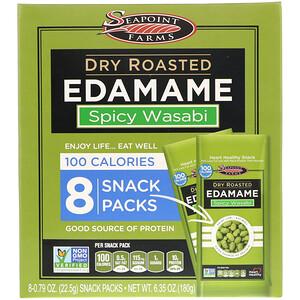 Сипоинт Фармс, Dry Roasted Edamame, Spicy Wasabi, 8 Snack Packs, 0.79 oz (22.5 g) Each отзывы покупателей