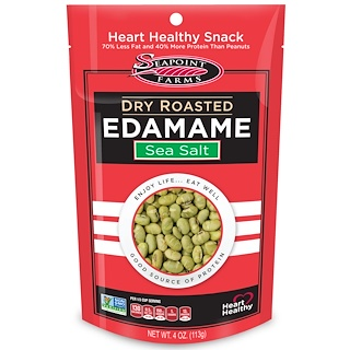 Seapoint Farms, Dry Roasted Edamame, Sea Salt, 4 oz (113 g)