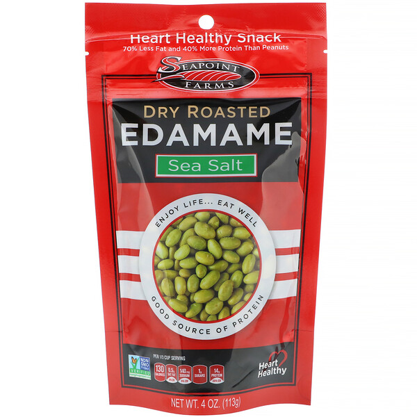 Dry Roasted Edamame, Sea Salt, 4 oz (113 g)