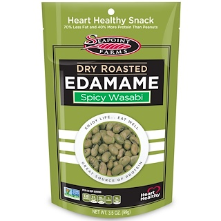 Seapoint Farms, Dry Roasted Edamame、Spicy Wasabi、3.5 oz (99 g)
