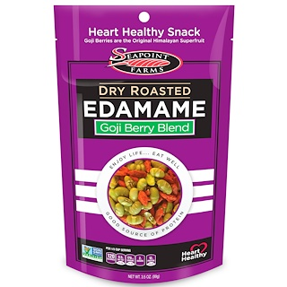 Seapoint Farms, Dry Roasted Edamame, Goji Berry Blend, 3.5 oz (99 g)