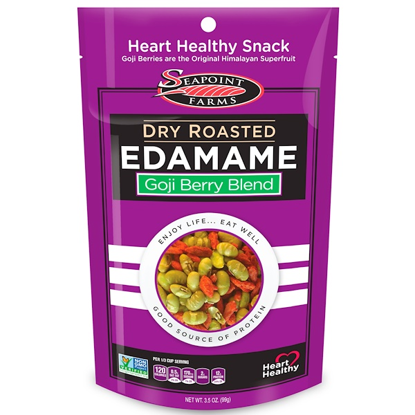 Seapoint Farms, Dry Roasted Edamame, Goji Berry Blend, 3.5 oz (99 g) (Discontinued Item)