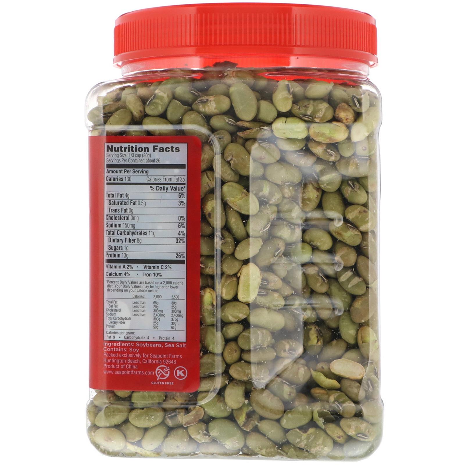 Dry Roasted Edamame, Sea Salt, 27 oz