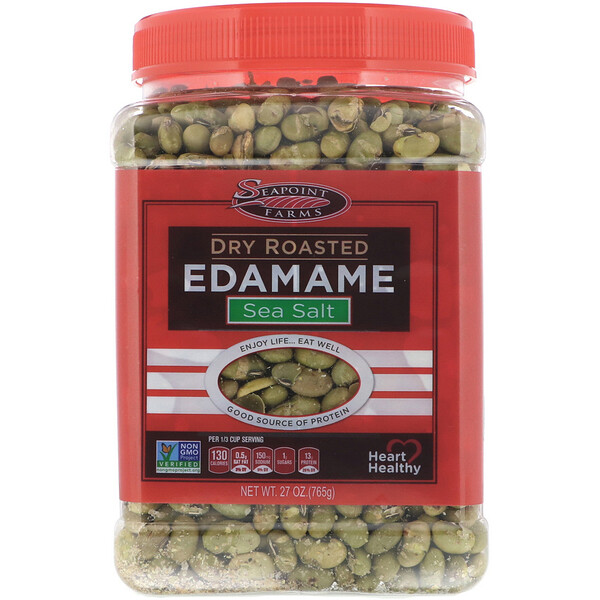 Seapoint Farms, Dry Roasted Edamame, Sea Salt, 27 oz (765 g)