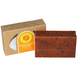 Sunfeather Soaps, Papaya Toasted Coconut Bar Soap, 4.3 oz (121 g)