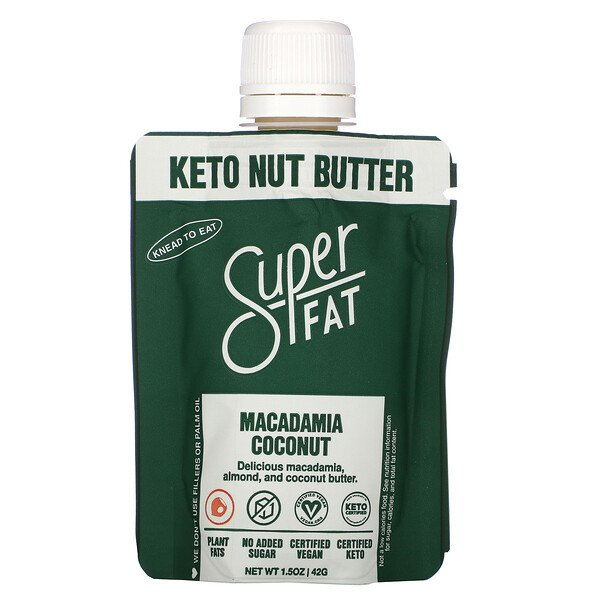 SuperFat, Keto Nut Butter, Macadamia Coconut, 1.5 oz (42 g)