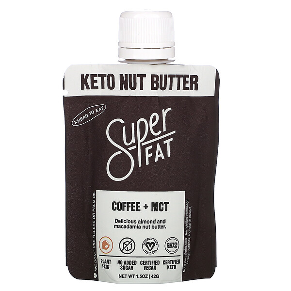 Keto Nut Butter, Coffee + MCT, 1.5 oz (42 g)